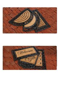 Rubber moulded coir brush Grill Mat