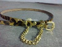 Ladies Leather Belts - Leopard printed