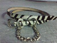 Ladies Leather Belts - Zebra printed