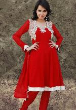 Red Salwar Suit Set