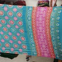 Gaji Fancy Blue Bandhani Sarees