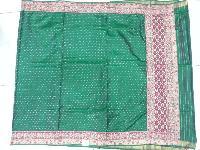 Rajkot Patola Green Work Saree