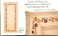 Emb linen table cloth