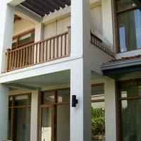 Wooden Balcony Stairway