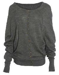 Grey Full Sleeve Top