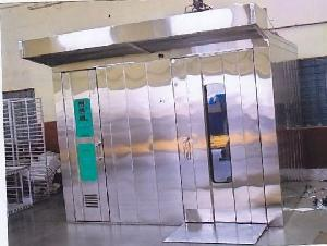 four trolley rotary rack oven