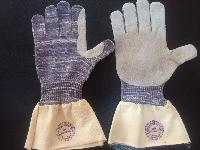 Pgi/1202/cl Seamless Knitted With Leather Pam Hand Gloves