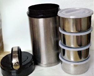 4 In 1 Premium Quality Insulated Stainless Steel Lunch Box