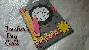 Handmade Teachers Day Greeting Cards
