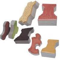 Cement Interlocking Pavers And Concrete Blocks And Bricks