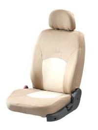 Cotton Satin Beige Seat Covers