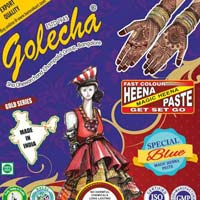 Golecha Sehnaaz Instant Henna Paste Cone (blue Color)