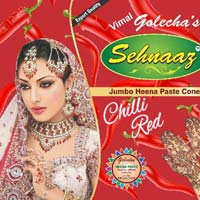 Golecha Sehnaaz Instant Henna Paste Cone (chilli Red Color)