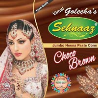Golecha Sehnaaz Instant Henna Paste Cone (choco Brown Color)