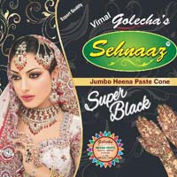 Golecha Sehnaaz Instant Henna Paste Cone (super Black Color)