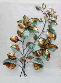iron metal leaf plant wall hanging