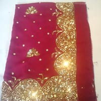 Designer Zari Handwork Party Wear Sarees