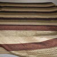 Desinger Raw Silk Cream Colour Bed Cover