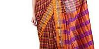 Dyed Check Silk Sarees