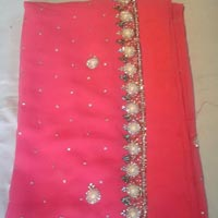 Designer Handwork Light Pink Color Party Wear Sarees