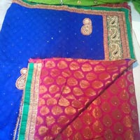 Heavy Handwork Half Half Party Wear Saree