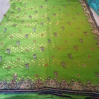 Heavy Handwork Viscose Fabric Party Wear Saree