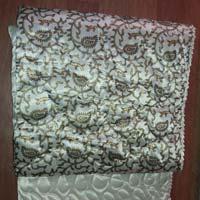 Jaipuri White Print Double Bedding Quilt Silk