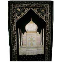 Taj Mahal Embroidered Wall Hanging