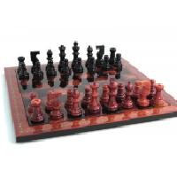 Black Red Alabaster Wood Frame Set