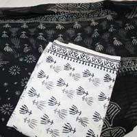 Cotton Hand Block Print Salwar Kaneezwith Pure Chiffon Dupatta