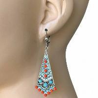 Coral Bohemian Style Anne Koplik Earrings