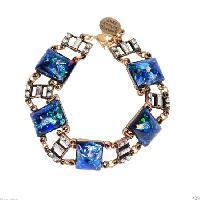 Lab Created Blue Opal Bracelet