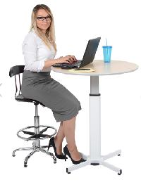 ROUND Pneumatic Adjustable Round Pedestal Table