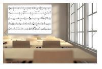 Wall-Mount Music Whiteboard