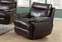 Elements Trudeau Recliner - Espresso Leather Match