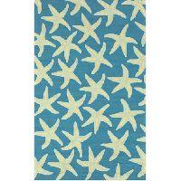 Surya Rain Starfish Peacock Blue Rug