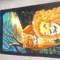 Lion Printed Towel