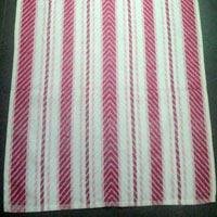 V Border Red Towel