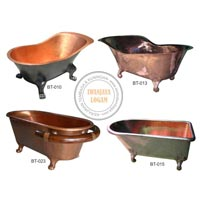 Hammered Copper Bathtub
