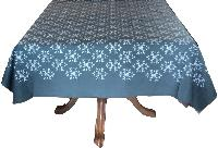 grey table cloth in thick cotton