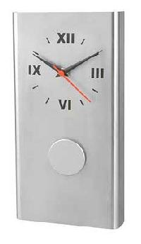 Stainless Steel Wall Clock (pendulum)