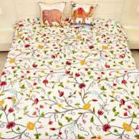 Hand Work Velvet Bed Covers