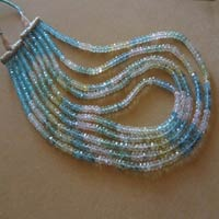 Gemstone Faceted Rondelle Beads