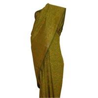 Block Printed Silk Saree