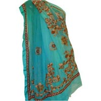 Shaded Georgette Hand Embroidered Saree