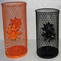 Wrought Iron Cylinder Candle Holders