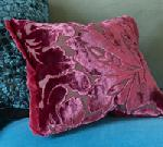 Velvet Burnout Cushion Design