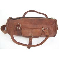 Vintage Goat Leather Duffel Travel Bag