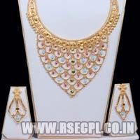 Designer Bridal Necklace Set with Earrings