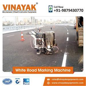 White Road Marking Machine